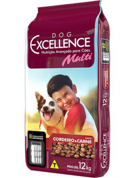 Dog Excellence Adulto Multi Cordeiro e Carne 12kg