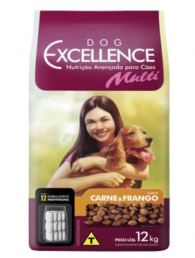 Dog Excellence Adulto Multi Carne e Frango 12kg
