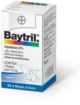Baytril Injetável 5% Bayer 10 Ml