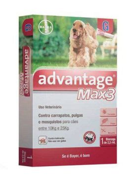 Advantage Max3 2,5ml  Antipulgas E Carrapatos Para Cães 10 a 25kg