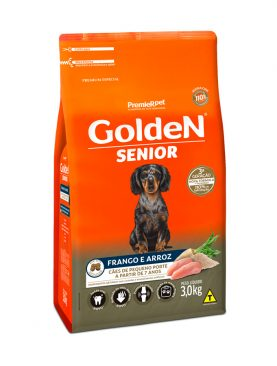 Ração Golden Senior Mini Bits Frango e Arroz