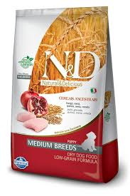 Ração N&D Low Grain Frango Puppy Medium 10,1Kg