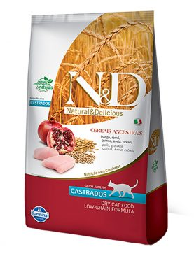 Ração N&D Low Grain Feline Castrado Frango 10,1Kg