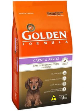 Golden Formula Filhote Carne e Arroz Mini Bits
