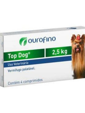 Vermifugo Top Dog 2,5kg Ouro Fino
