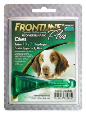 Frontline Plus Anti-pulgas e Carrapatos P/cães De 10 a 20 Kg 1,34ml