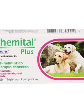 Vermifugo Chemital Plus 4cpr