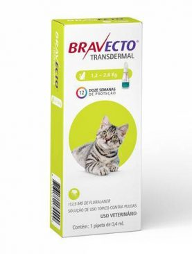 Bravecto Gatos 1,2 a 2,8kg Transdermal -112,5mg - Pipeta