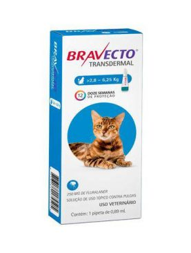 Bravecto Gatos 2,8 a 6,25kg Transdermal -250mg - Pipeta