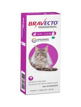 Bravecto Gatos 6,25 a 12,5kg Transdermal -500mg-Pipeta
