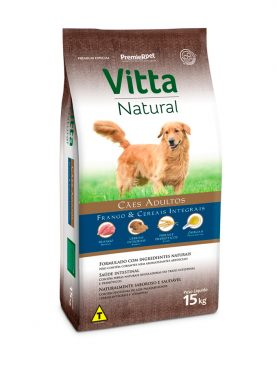 Vitta Natural Adulto Frango e Cereais 15Kg