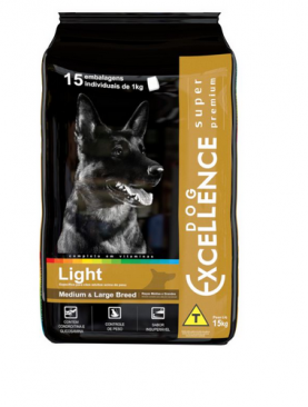 Ração Dog Excellence Super Premium Medium Large Breed Light 15 Kg