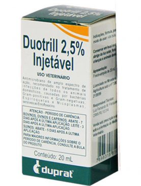 Duotrill 2,5% Injetável Antimicrobiano 20mL