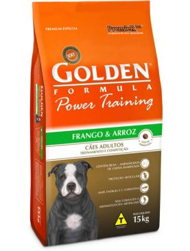 Ração Golden Power Training Adulto Frango e Arroz 15Kg