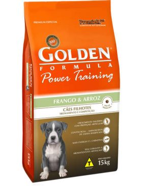 Ração Golden Power Training Filhote Frango e Arroz 15Kg