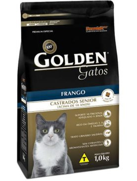 Golden Gatos Castrados Sênior Frango