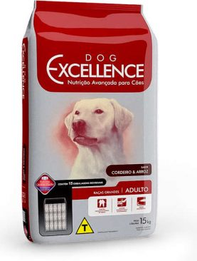 Dog Excellence Hight Premium Raças Grandes Adulto Cordeiro e Arroz 15Kg