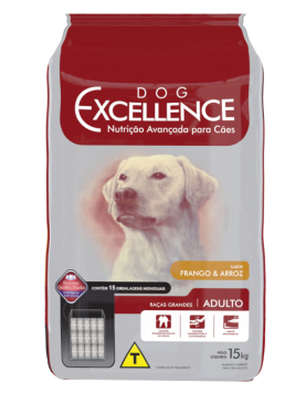 Dog Excellence Hight Premium Raças Grandes Adulto Frango e Arroz 15kg