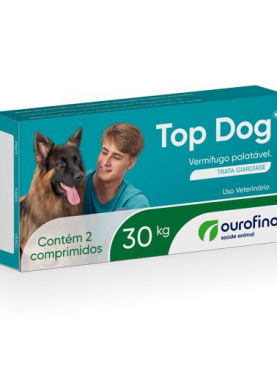 Vermífugo  Top Dog Ouro Fino 30 kg