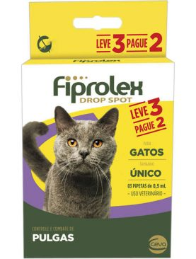 Fiprolex Drop Spot para Gatos de 0,5 mL