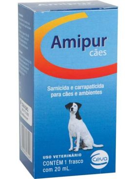 Sarnicida e Carrapaticida Amipur para Cães - 20 mL