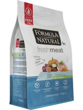 Fórmula Natural Fresh Meat Cães Light Raças Mini e Pequena 7KG